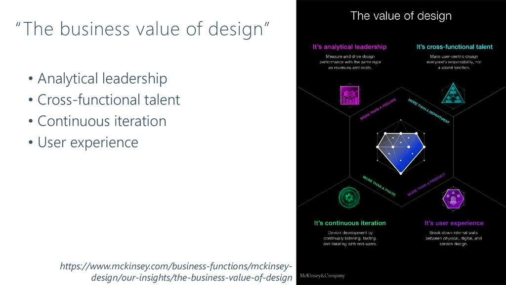 """""""The business value of design"""" • Analytical lea..."""