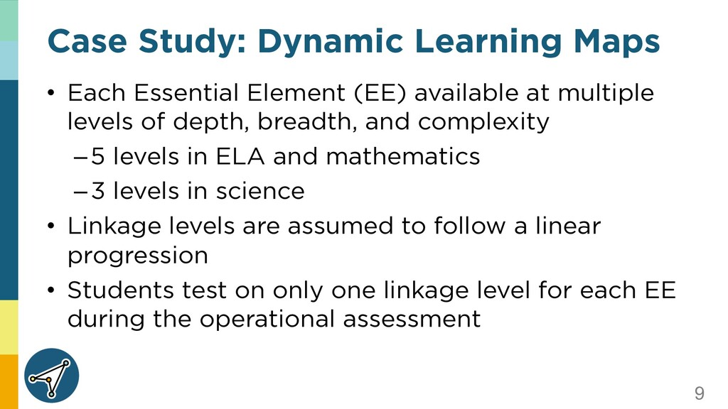 9 Case Study: Dynamic Learning Maps • Each Esse...