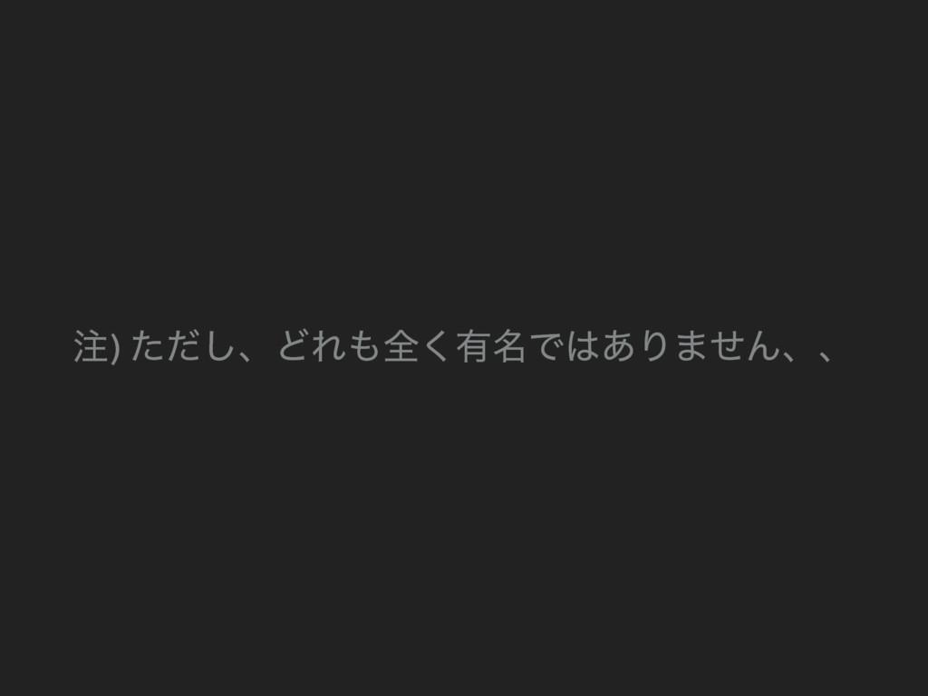 ) ͨͩ͠ɺͲΕશ͘༗໊Ͱ͋Γ·ͤΜɺɺ