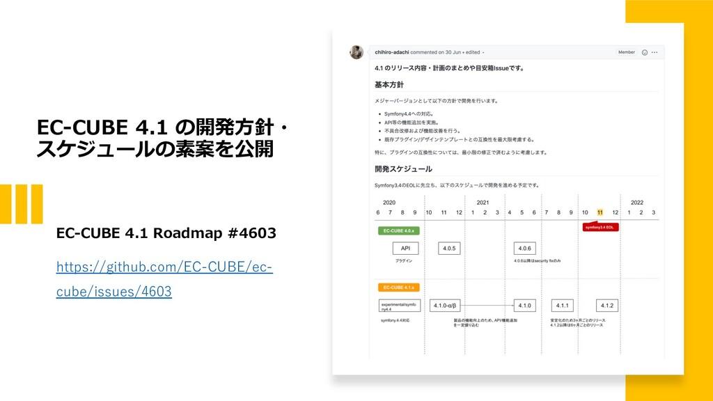 EC-CUBE 4.1 の開発⽅針・ スケジュールの素案を公開 EC-CUBE 4.1 Roa...