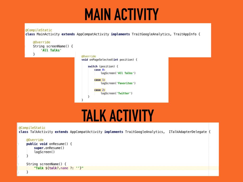 MAIN ACTIVITY TALK ACTIVITY