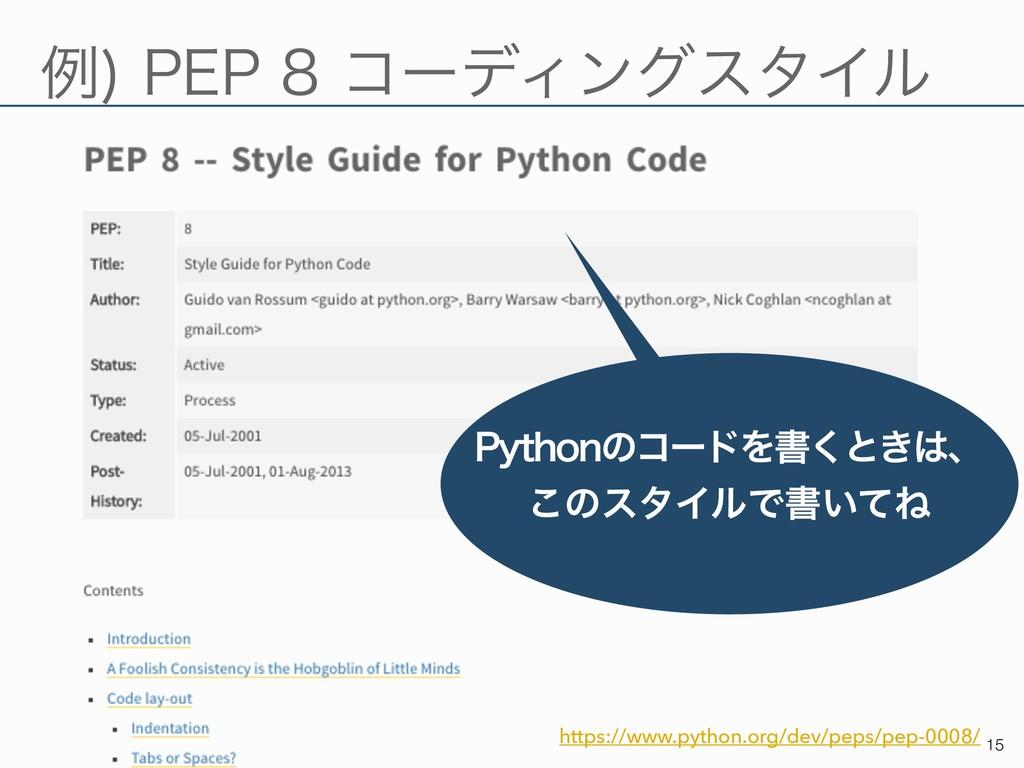 ྫ 1&1ίʔσΟϯάελΠϧ !15 https://www.python.org/...
