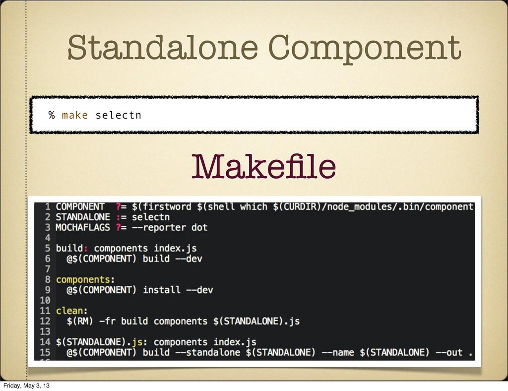 Standalone Component % make selectn Makefile Fri...