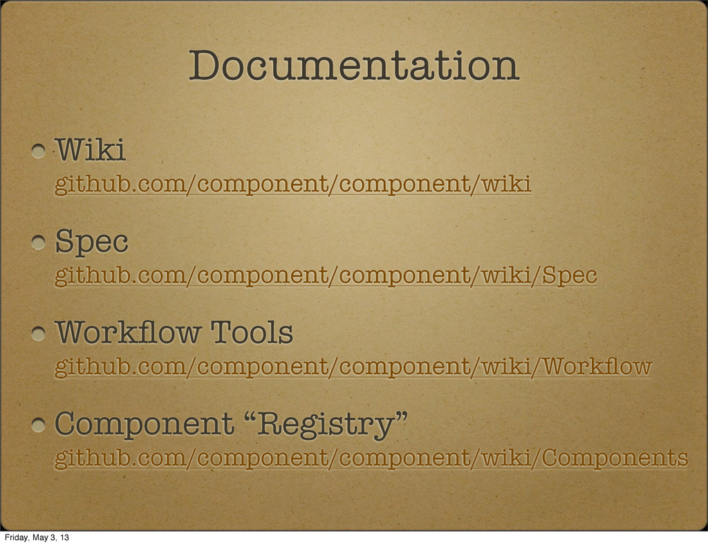 Wiki github.com/component/component/wiki Spec g...