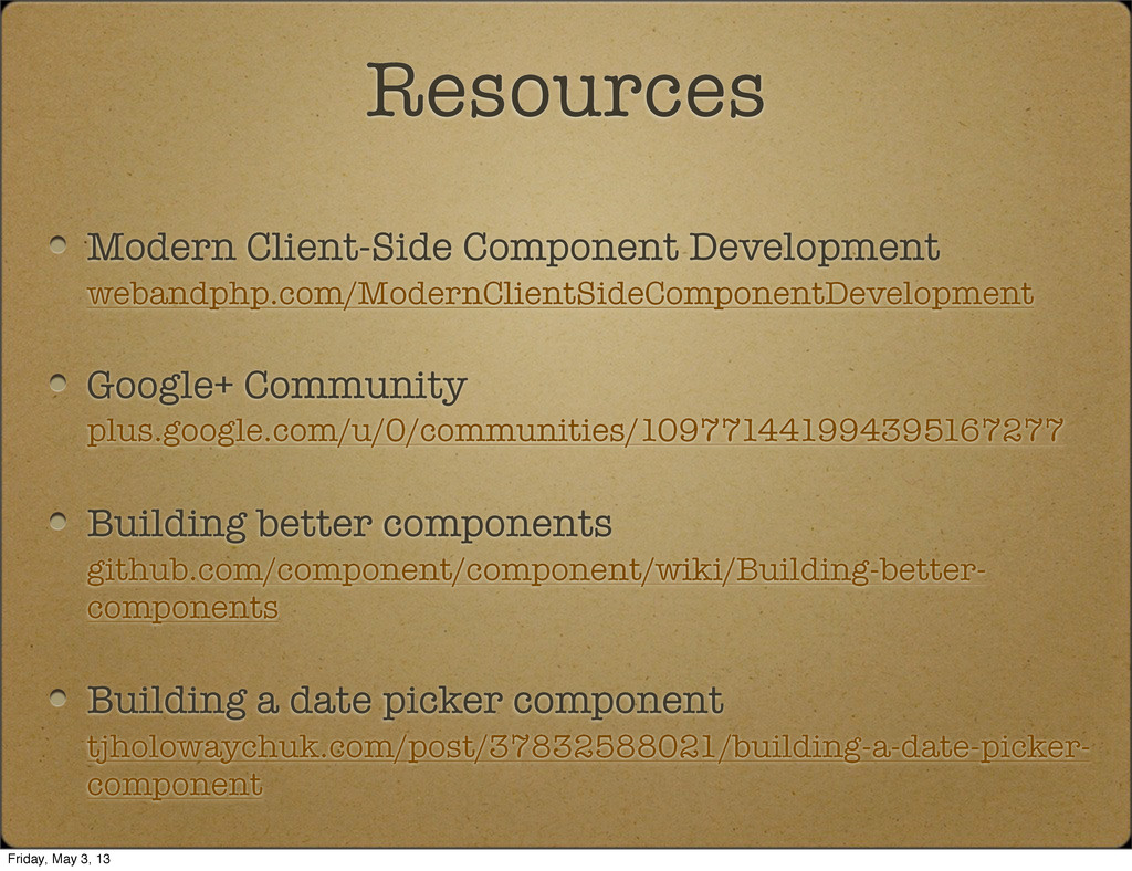 Modern Client-Side Component Development weband...