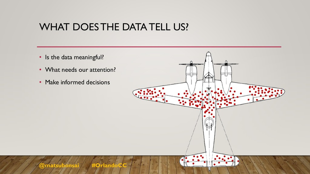 WHAT DOES THE DATA TELL US? • Is the data meani...