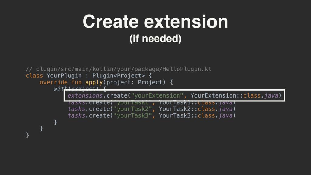 Create extension (if needed) // plugin/src/main...