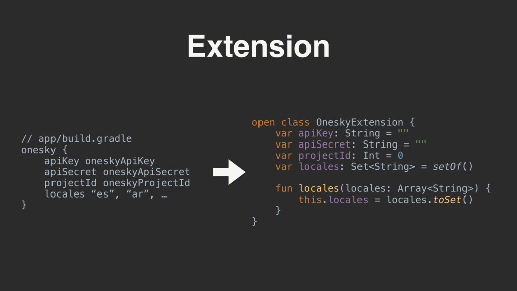 Extension open class OneskyExtension { var api...