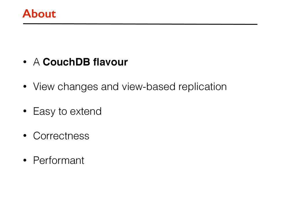 • A CouchDB flavour • View changes and view-base...