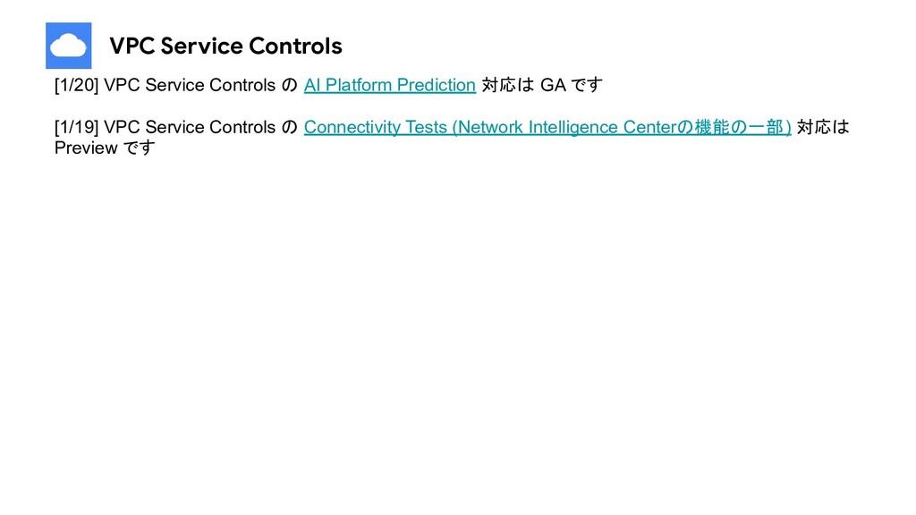 VPC Service Controls [1/20] VPC Service Control...