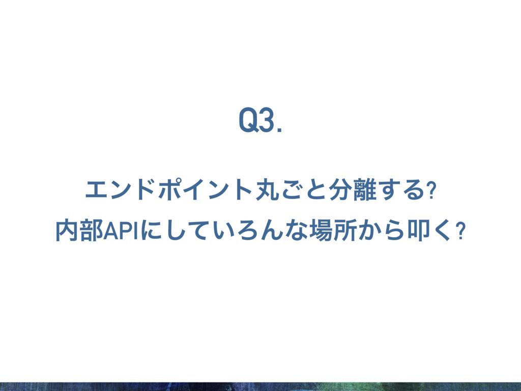 ΤϯυϙΠϯτؙ͝ͱ͢Δ? ෦APIʹ͍ͯ͠ΖΜͳॴ͔Βୟ͘? Q3.