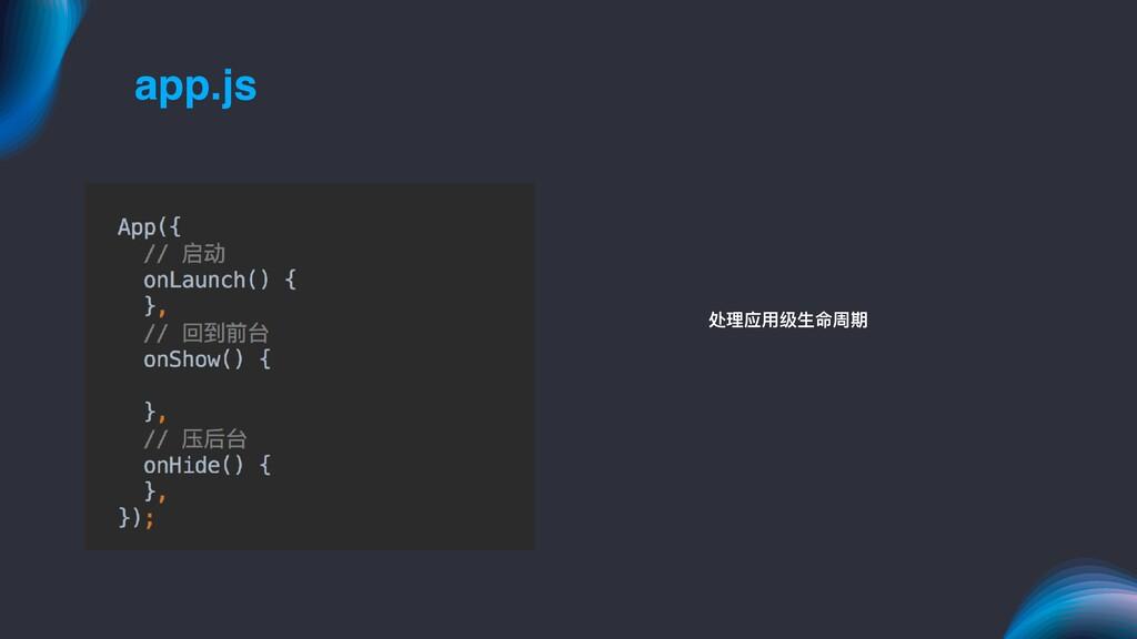 app.js 处理理应⽤用级⽣生命周期