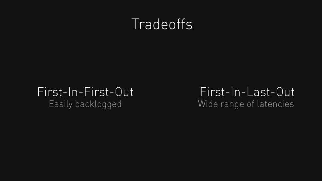 First-In-First-Out Tradeoffs First-In-Last-Out ...