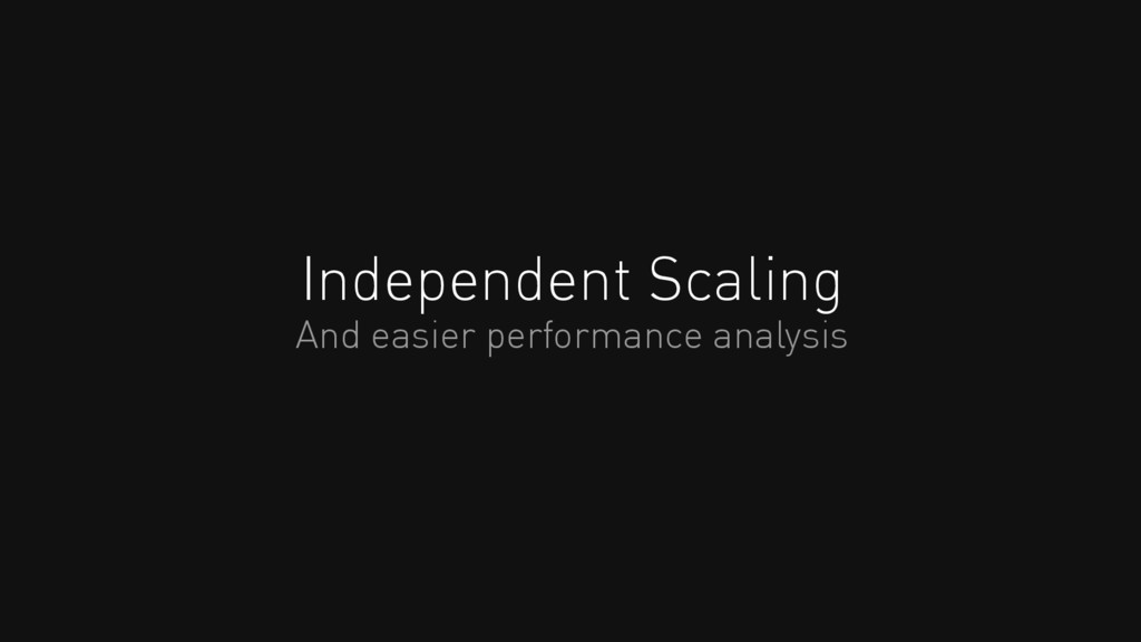 Independent Scaling And easier performance anal...