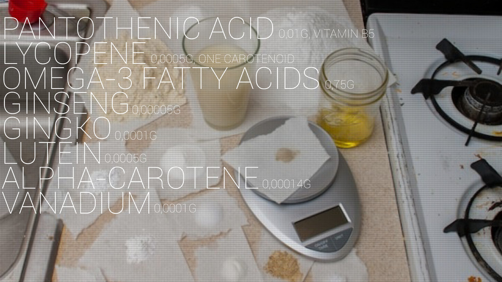 PANTOTHENIC ACID LYCOPENE OMEGA-3 FATTY ACIDS G...