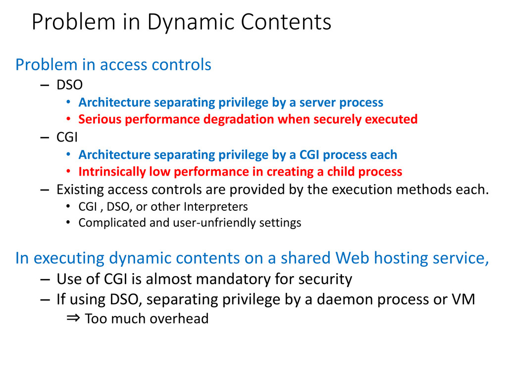Problem in Dynamic Contents Problem in access c...