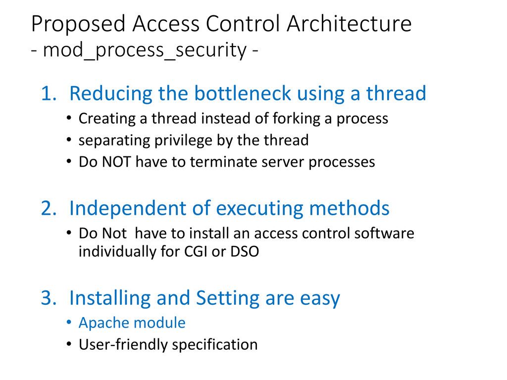 Proposed Access Control Architecture - mod_proc...