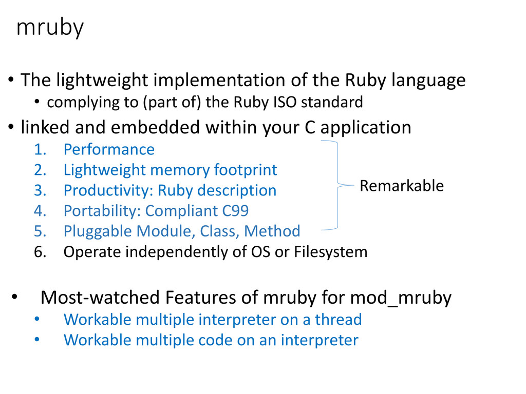mruby • The lightweight implementation of the R...