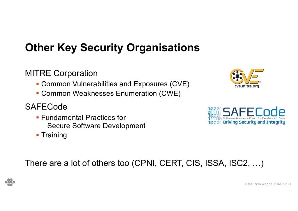 © 2021 EOIN WOODS // 20210101.1 Other Key Secur...