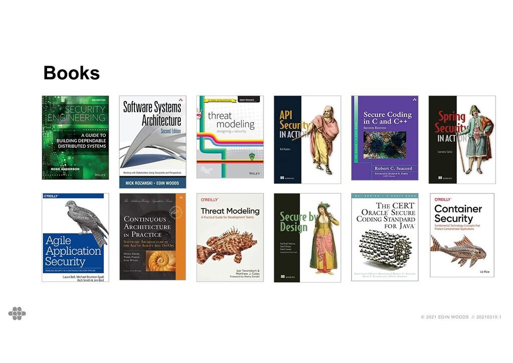80 80 © 2021 EOIN WOODS // 20210310.1 Books