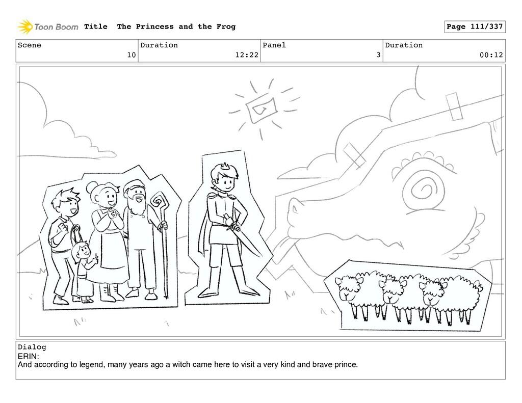 Scene 10 Duration 12:22 Panel 3 Duration 00:12 ...