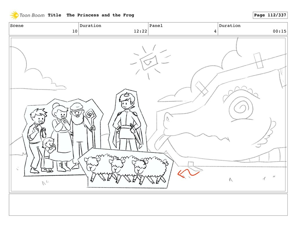 Scene 10 Duration 12:22 Panel 4 Duration 00:15 ...