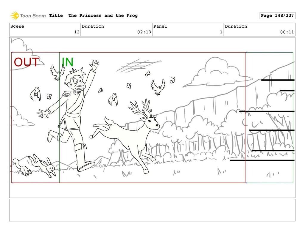 Scene 12 Duration 02:13 Panel 1 Duration 00:11 ...