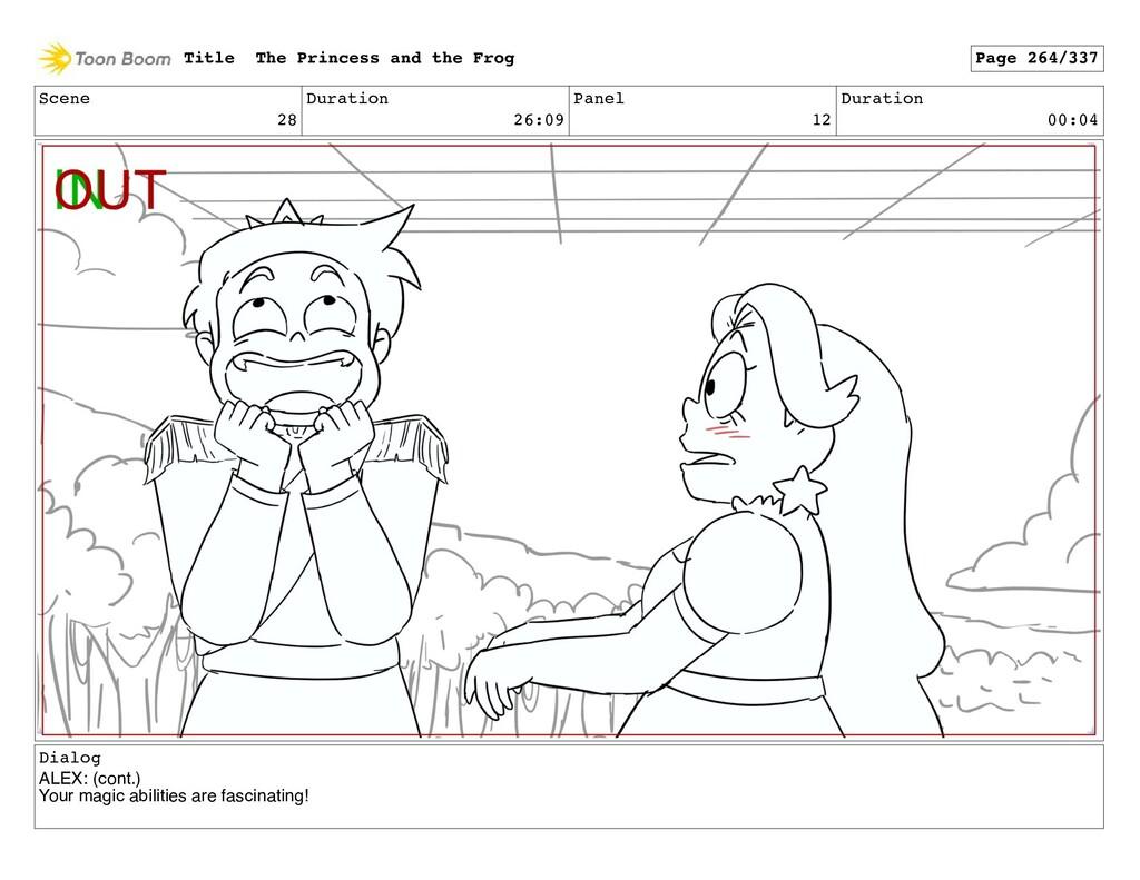 Scene 28 Duration 26:09 Panel 12 Duration 00:04...