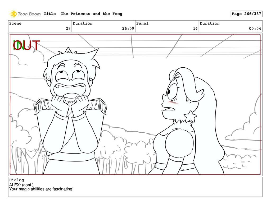 Scene 28 Duration 26:09 Panel 14 Duration 00:04...