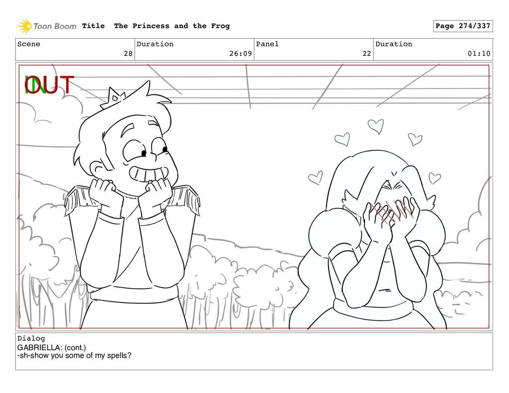 Scene 28 Duration 26:09 Panel 22 Duration 01:10...