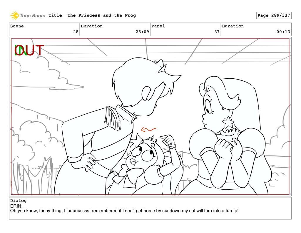 Scene 28 Duration 26:09 Panel 37 Duration 00:13...