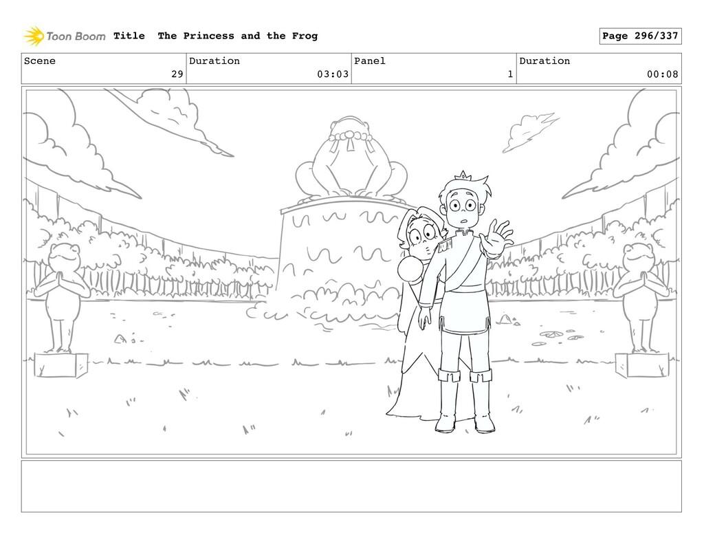 Scene 29 Duration 03:03 Panel 1 Duration 00:08 ...