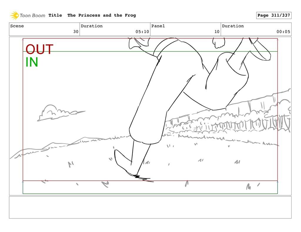 Scene 30 Duration 05:10 Panel 10 Duration 00:05...
