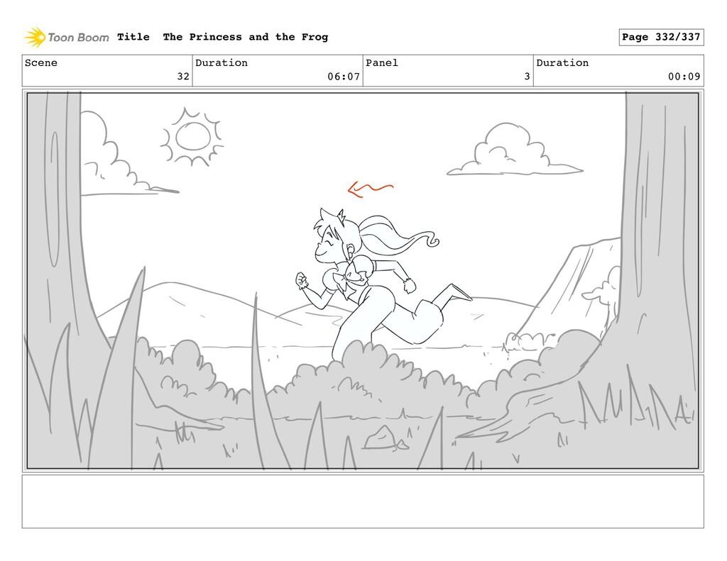 Scene 32 Duration 06:07 Panel 3 Duration 00:09 ...