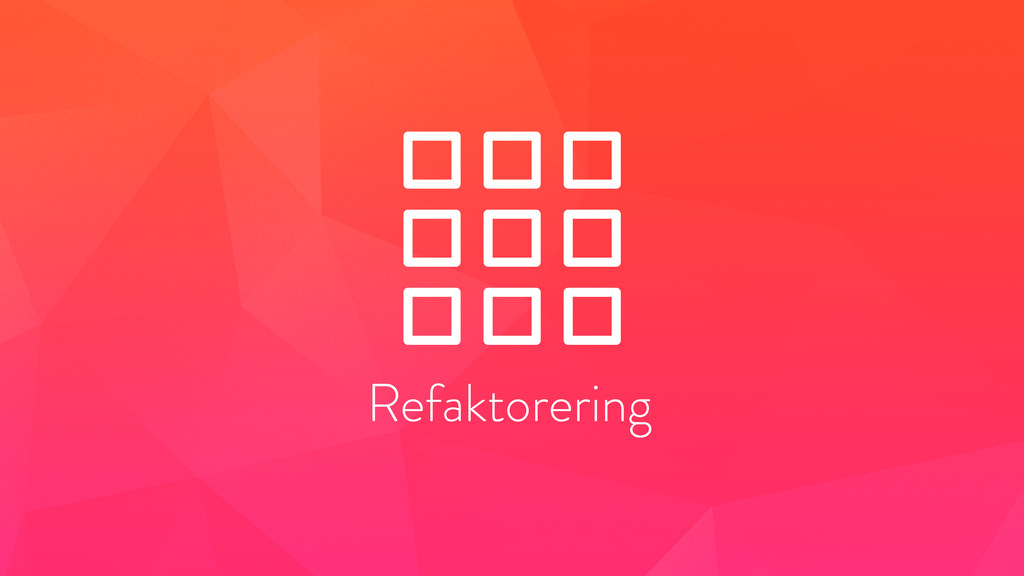 Refaktorering
