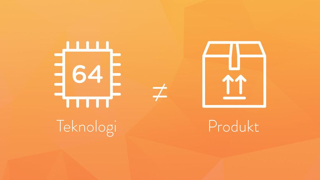 ≠ Produkt Teknologi