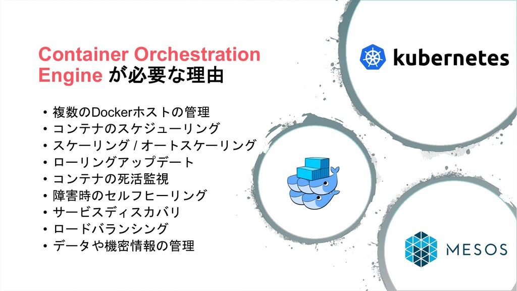 Container Orchestration Engine (4/0 • 3*Dock...
