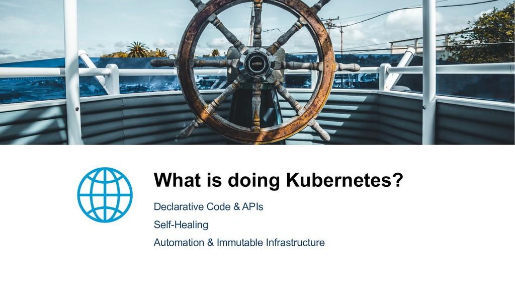 What is doing Kubernetes? Declarative Code & AP...