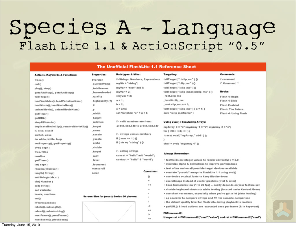 Species A - Language Flash Lite 1.1 & ActionScr...