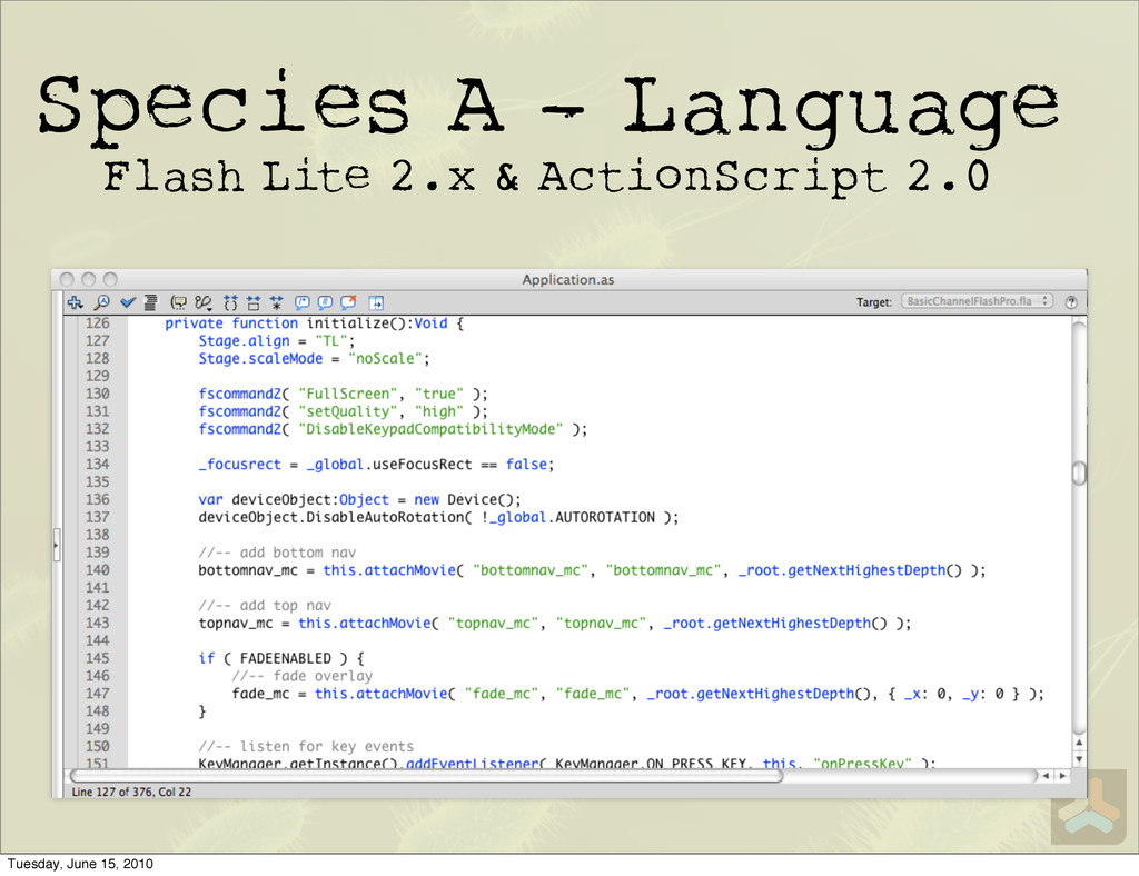Species A - Language Flash Lite 2.x & ActionScr...