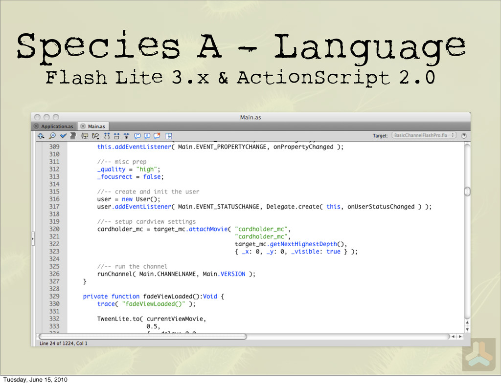 Species A - Language Flash Lite 3.x & ActionScr...