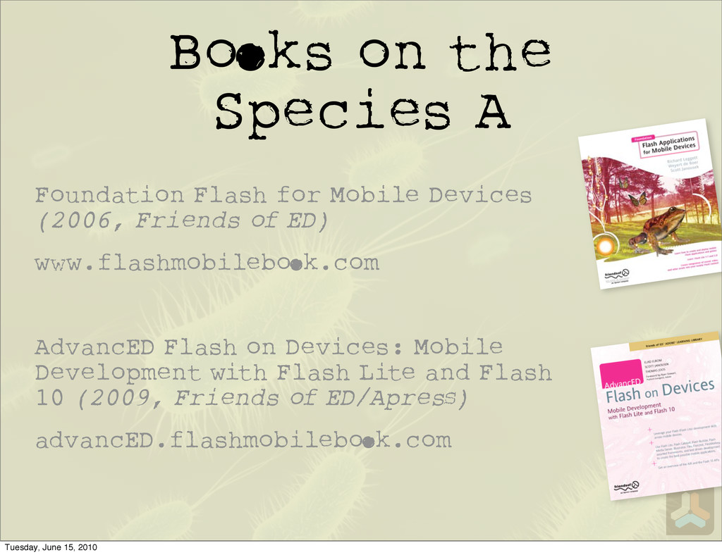 B ks on the Species A Foundation Flash for Mobi...