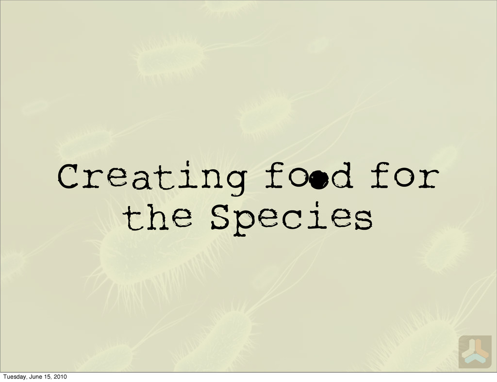 Creating f d for the Species Tuesday, June 15, ...