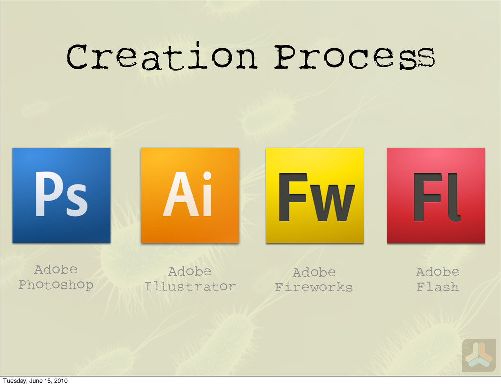 Creation Proce Adobe Photoshop Adobe Fireworks ...