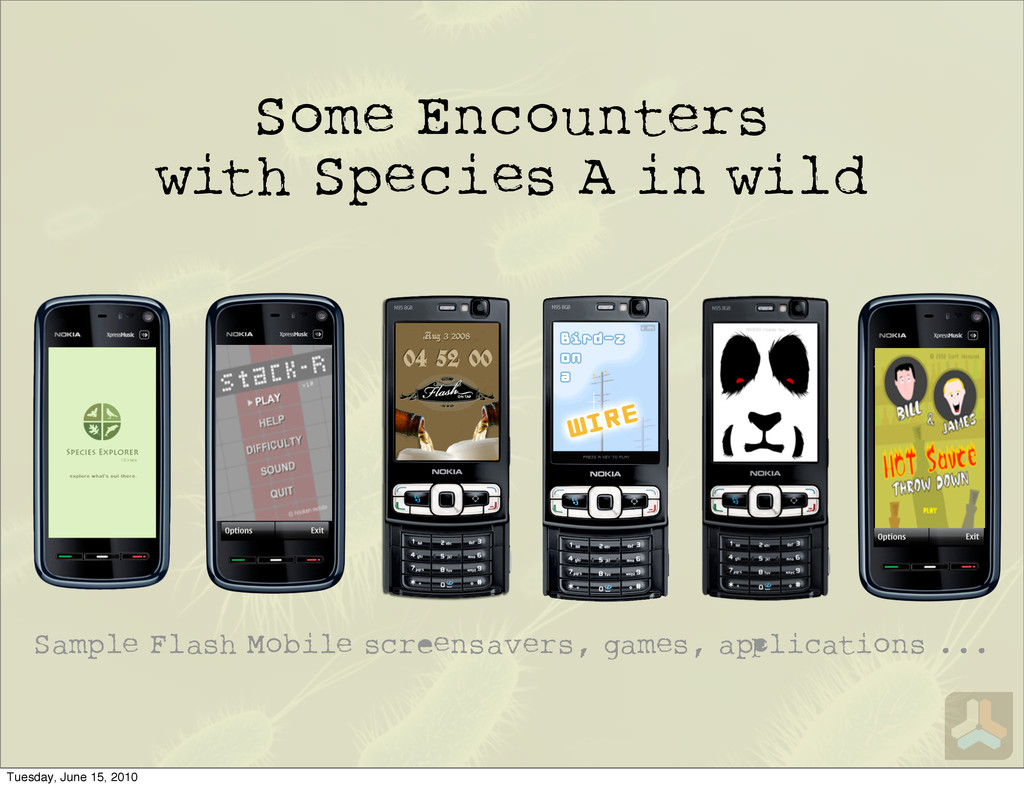 Some Encounters with Species A in wild Sample F...