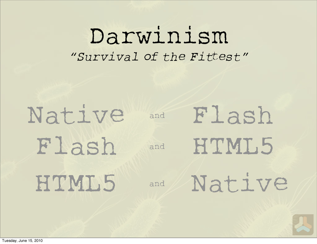 "Darwinism ""Survival of the Fi est"" Native Flash..."