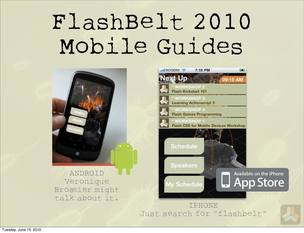 FlashBelt 2010 Mobile Guides IPHONE Just search...