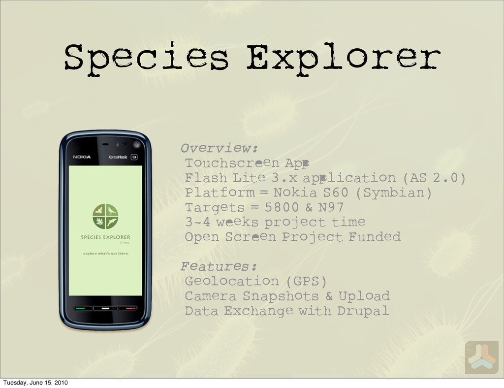 Species Explorer Overview: Touchscr n A Flash L...