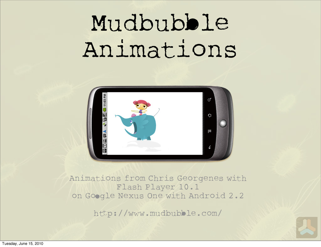 Mudbu le Animations Animations from Chris Georg...