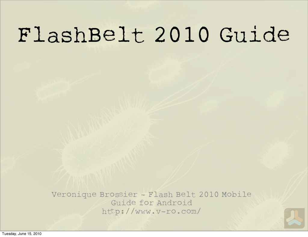FlashBelt 2010 Guide Veronique Bro ier - Flash ...